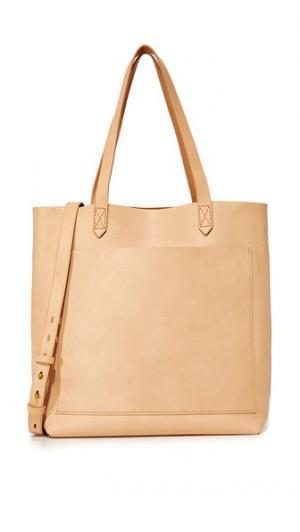 Объемная сумка с короткими ручками среднего размера Transport Madewell