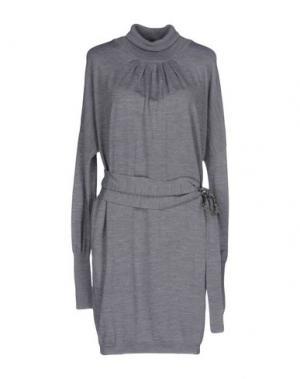 Короткое платье TOY G.. Цвет: серый