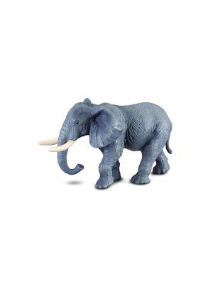 Слон африканский, XL 14 см Collecta. Цвет: серо-голубой
