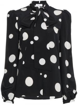 Блузка с завязкой на вороте Lady Racil. Цвет: чёрный