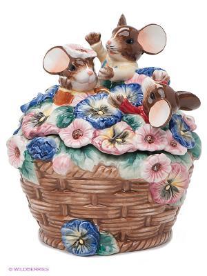 Шкатулка Цветочный рай Pavone. Цвет: коричневый
