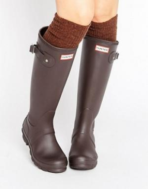 Hunter Высокие резиновые сапоги Original. Цвет: коричневый