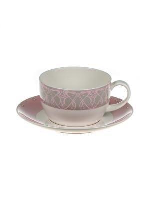 Н-р из 2-х чашек 400мл с блюдцами Петра Royal Porcelain. Цвет: молочный