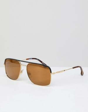 Carrera Солнцезащитные очки-авиаторы. Цвет: золотой