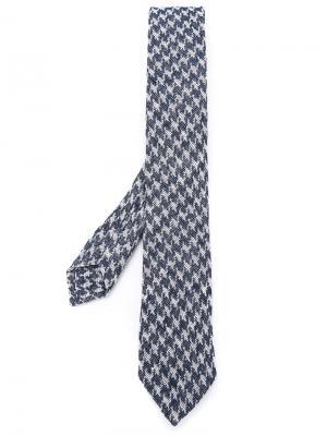 Фактурный галстук Al Duca D'Aosta 1902. Цвет: синий