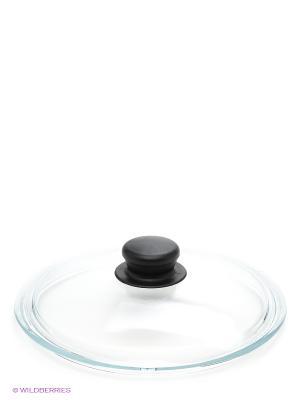 Крышка стеклянная с пластиковой ручкой Victoria. Цвет: прозрачный, черный