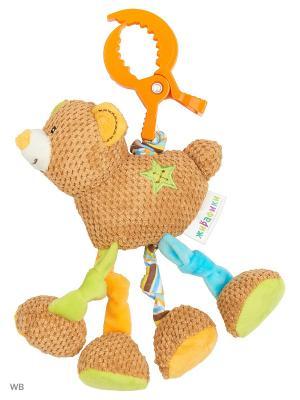 Подвеска с вибрацией Мишка Вилли Жирафики. Цвет: оранжевый, салатовый, коричневый, голубой, бежевый