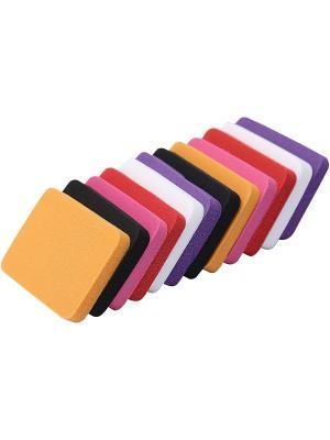 Спонжи для макияжа, 12 шт. UBU QVS. Цвет: желтый, красный, фиолетовый, фуксия, черный