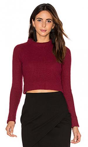Укороченный свитер Autumn Cashmere. Цвет: вишня