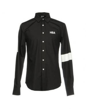 Pубашка HBA HOOD BY AIR. Цвет: черный