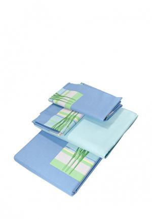 Комплект постельного белья Tete-a-Tete. Цвет: голубой