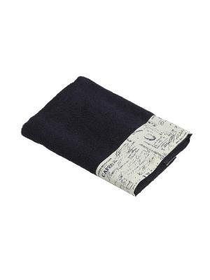 Комплект полотенец Письма издалека 2пр (50х90,70х140) La Pastel. Цвет: синий