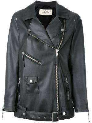 Leather-effect jacket Urbancode. Цвет: серый