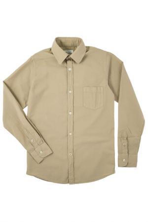 Рубашка HARTFORD. Цвет: бежевый