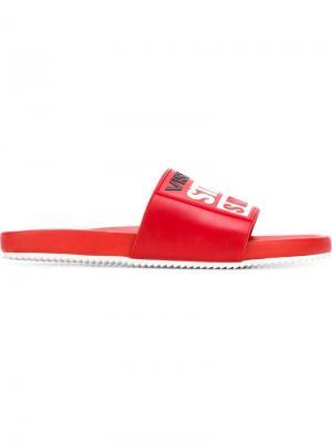 Шлепанцы Vision Street Wear x Swear. Цвет: красный