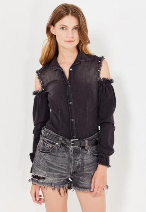 Рубашка джинсовая Met. Цвет: черный