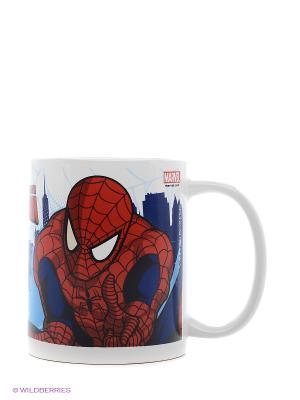 Кружка керамическая в подарочной упаковке. Человек паук Stor. Цвет: красный, синий, голубой