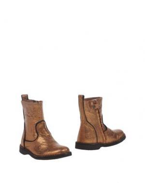 Полусапоги и высокие ботинки BISGAARD. Цвет: бронзовый