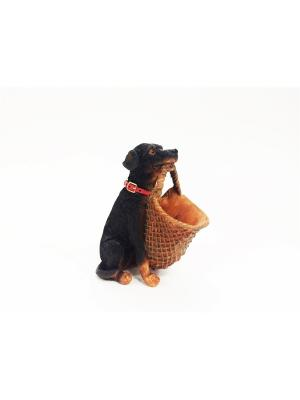 Подставка для канц.принадлежностей Собака из полирезины Magic Home. Цвет: черный, оранжевый