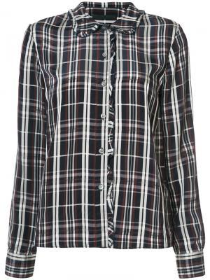 Рубашка в клетку Jenni Kayne. Цвет: синий