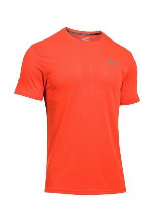 Футболка спортивная Under Armour. Цвет: оранжевый