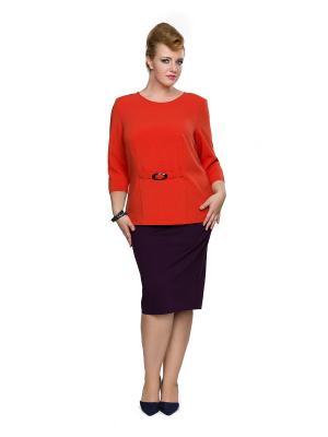 Блуза Eva Graffova. Цвет: оранжевый