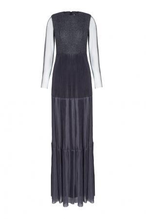 Платье с полупрозрачной тканью VIKTORIA IRBAIEVA. Цвет: серый