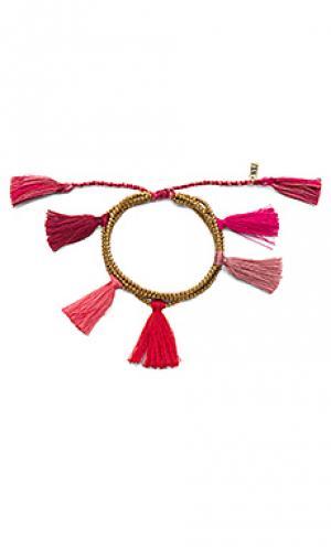 Браслет с кисточкой dara Natalie B Jewelry. Цвет: металлический золотой