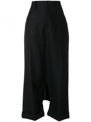Строгие брюки с заниженным шаговым швом Junya Watanabe Comme Des Garçons. Цвет: чёрный