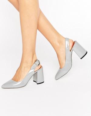 Raid Серые туфли на каблуке Savannah. Цвет: серый