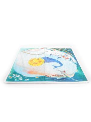 Коврик в ванну Анна Силивончик -Рыба-солнце- Фабрика ДемьяновЪ. Цвет: белый, бледно-розовый, голубой, горчичный, желтый, синий