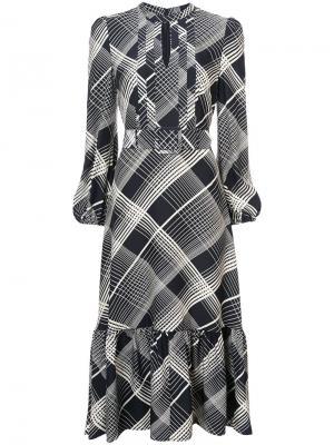 Платье с поясом и абстрактным принтом Co. Цвет: чёрный