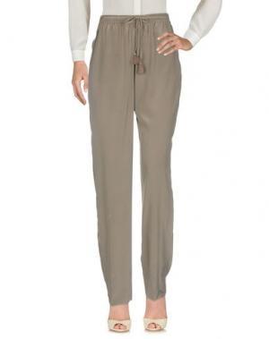 Повседневные брюки ELIE TAHARI. Цвет: голубиный серый