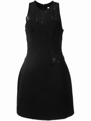 Приталенное платье с панелями вышивкой Jonathan Simkhai. Цвет: чёрный