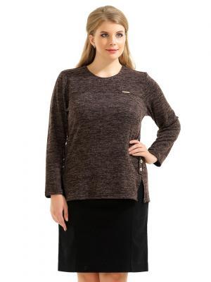 Блузка LikModa. Цвет: темно-коричневый