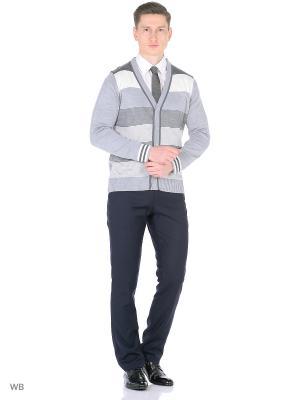Кардиган GALS. Цвет: серый, светло-серый, серый меланж