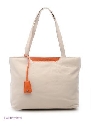 Сумка Pimo Betti. Цвет: кремовый, оранжевый
