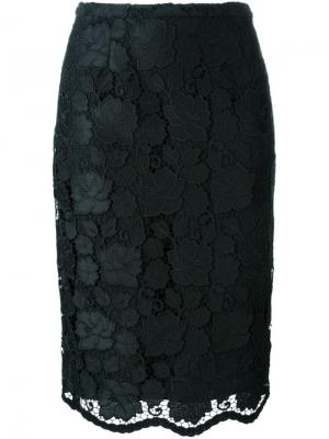Кружевная юбка-карандаш Nº21. Цвет: чёрный