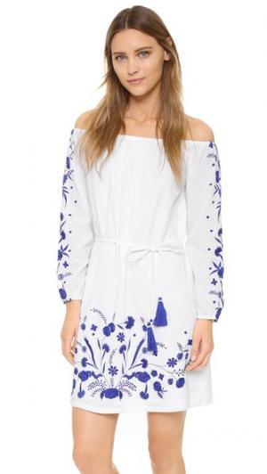 Мини-платье Grimaud PAMPELONE. Цвет: белый/синий