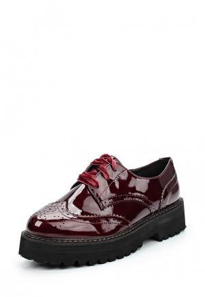 Ботинки Catisa. Цвет: бордовый