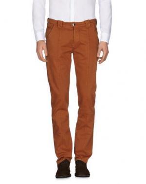 Повседневные брюки BARBA Napoli. Цвет: коричневый