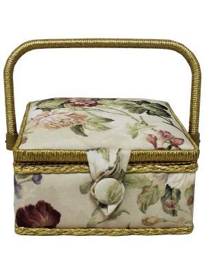 Шкатулка 20х20х11 см, BN4727 Grace&Glamour. Цвет: зеленый, белый, розовый