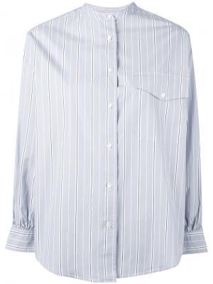 Рубашка в полоску с воротником на пуговице Aspesi. Цвет: серый