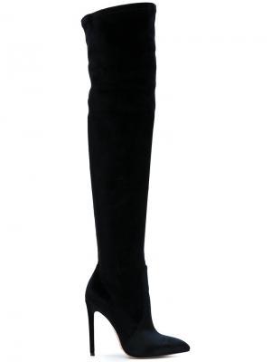 Высокие сапоги Gianni Renzi. Цвет: чёрный