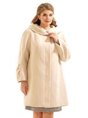 Пальто LikModa. Цвет: молочный