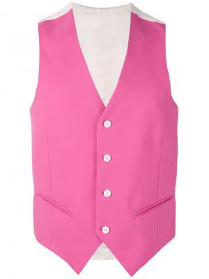 Классический жилет Lc23. Цвет: розовый и фиолетовый