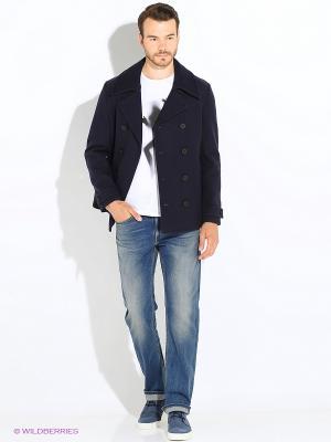 Пальто GEOX. Цвет: темно-синий, бирюзовый