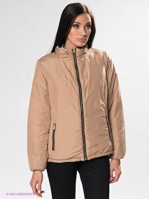 Куртка ZENDRA. Цвет: бежевый, черный