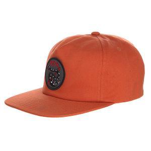Бейсболка с прямым козырьком  Rattle Snap Back Burnt Orange Brixton. Цвет: оранжевый
