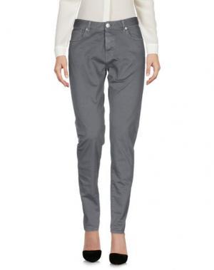 Повседневные брюки CARE LABEL. Цвет: свинцово-серый